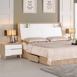 【北歐風-伯妮斯】5尺床組與床頭櫃