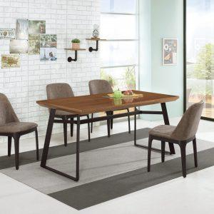 【人文風-洛爾納】5.3尺餐桌椅